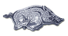 university of arkansas tusk logo running hog crystallized chrome auto car emblem