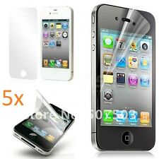 5 X De Alta Calidad Ultra Transparente Protector De Pantalla Para Nuevos I Phone 4/4s