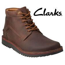 Clarks Remsen Leather Hi Chukka Boots - Brown - Men's 7