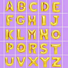 ♛ Shop8 : 1 pc Letter Foil Balloon Party Needs Gift Ideas Gold