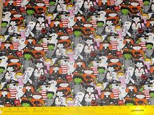 "Halloween Fun Costume Kids Fabric 32""W x 44""L 100% cotton"