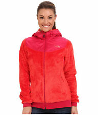 New Women's The North Face Oso Hooded Fleece Jacket Pink XS