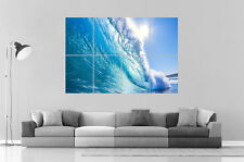 MAGNIFIQUE VAGUE WAVE BEAUTY Wall Art Poster Grand format A0 Large Print