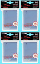 240 Ultra Pro DECK PROTECTOR Card Sleeves CLEAR YuGiOh 4 Packs Small Size NEW