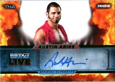 TNA Austin Aries L48 2013 Impact Wrestling LIVE GREEN Autograph Card SN 28 of 50