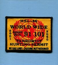 HSL-46 GRANDMASTERS TERRORIST HUNTING US Navy Helicopter Squadron Cruise Patch