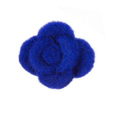 Felt Fabric Flower Dark Blue Brooch Hair Accessory 45mm Pack of 1 (B54/3)