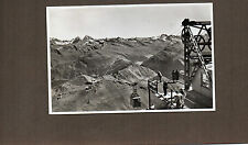 Switzerland Cable car at Weissfluh Gipfel 2846m Real photo 1950's  unposted a110