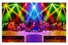 the last supper DISCO poster 24X36 COLORFUL DJ  lights DISCIPLES Christ HOT