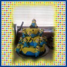 Minions edible sugar cake topper set of 4