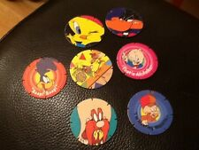 7 x WALKERS SNACKS PROMOTIONAL. LOONEY TUNES  TAZO . POGS COLLECTABLE