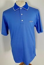 Men's FOOTJOY FJ Polyester S/S Golf Polo Shirt Solid Light Blue Size Medium!!!