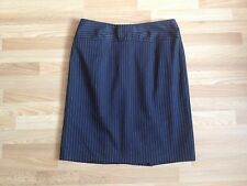 BNOWT Ladies Nanette Lepore Black Tailored Skirt White & Beige Pinstripes-Size 2