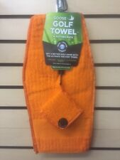 Goose Golf Towel &Putting Mate Orange, with magnetic attached ball marker