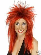 Mullet Wig Womens Punk Wig Red Mullet 80s Fancy Dress Wig Punk Fancy Dress