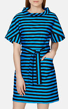 Karen Millen Limited ED Bold Stripe Contrast Boat Races Belt Party Dress 8 36