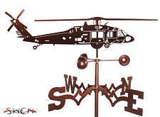 Hand Made Black Hawk Helicopter Weathervane *NEW*