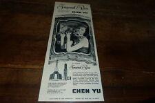 CHEN YU - IMPERIAL ROSE - Publicité de presse / Press advert !!! 1956