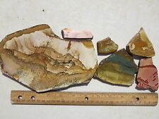 724  NICE 1# ASSORTMENT OF PICTURE JASPER SLABS FROM A CLOSED OLD TIME ROCK SHOP