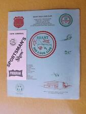 BRANT ROD & GUN CLUB SPORTSMENS SHOW PROGRAM 1972 FISHING HUNTING ONTARIO