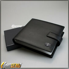 TOYOTA Leather CD Case Wallet Car DVD Holder Discs Organizer Storage Carry Cover