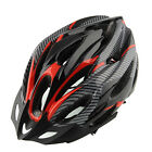 Cycling Bicycle Adult Mens Bike Helmet Red carbon color With Visor Mountain New