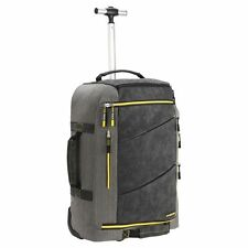 Manhattan Trolley Backpack Suitcase Hybrid Bag Cabin Fit Travel Luggage Grey New