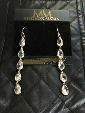 "Melinda Maria Dangle 14K Plate Gold-Tone ""Leaf Drop"" Earrings Valentine's Day!"