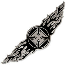 LARGE WINGED IRON CROSS WINGS EMBROIDERED PATCH TATTOO BIKER JACKET VEST EMBLEM