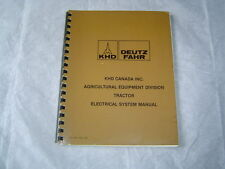 Deutz DX 76-78 series tractor electrical wiring diagrams shop service manual