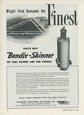 1949 Bendix Aviation Ad Jet Fuel Filter Wright Field Dayton Ohio Airport OH