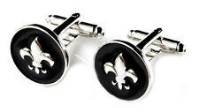 Fleur de Lis Cufflinks - Groomsmen Gift - Men's Jewelry - Gift Box