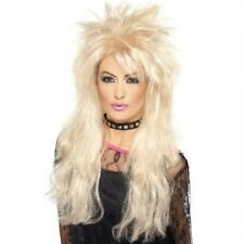 Ladies 80's Long Mullet Rock Punk Fancy Dress Wig Adults 1980s Blonde WIG