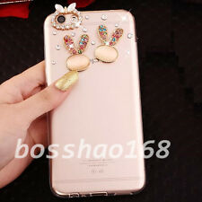 New Bling Clear handmade Diamonds Crystal TPU Soft Back Case Cover Skin For ZTE
