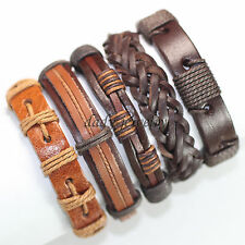 Wholesale 5pcs Genuine leather Personality Men Bracelet male Bangles-F71