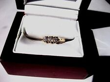 ANTIQUE VICTORIAN 14K ROSE GOLD RING with DIAMONDS,late 19 c.