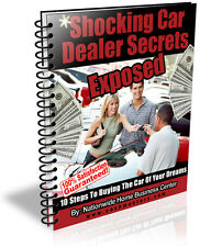 SHOCKING CAR DEALER SECRETS EXPOSED  PDF EBOOK FREE SHIPPING RESALE RIGHTS