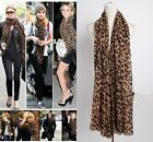 Lady Women Fashion Stylish Soft Silk Chiffon Scarf Wrap Shawl Stole Dot Leopard