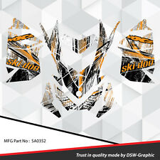 SKI-DOO XP MXZ SNOWMOBILE SLED WRAP GRAPHICS STICKER DECAL KIT 2008-2013 SA0352