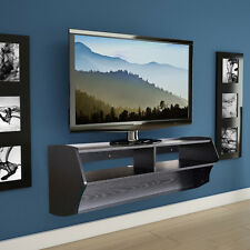 TV Stand Wall Mount Media Console Entertainment Center Floating CD Shelf Black
