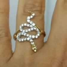 .70 carat 14k yellow gold snake Ring S  5 6 7 8