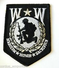 WOUNDED WARRIOR CLASSIC EMBROIDERED SHIELD PATCH 3.3 INCHES