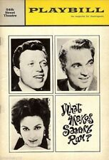 "Steve Lawrence ""WHAT MAKES SAMMY RUN?"" Bernice Massi / Robert Alda 1965 Playbill"