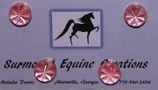Horse Show Number Magnets - Pink AB Starburst - Saddleseat, Hunt Seat, Western