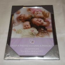 A4(21 x 29.7 cm) Certificate Photo Picture Frame Rounded Silver Finish Xmas Gift