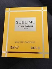 New JEAN PATOU SUBLIME Eau de Parfum .05fl.oz/1.5 ml SAMPLE New & Carded