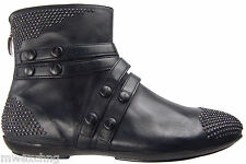CESARE PACIOTTI US 8 SUPER STYLISH ANKLE BOOTS STUDDED LAMB LEATHER SHOES
