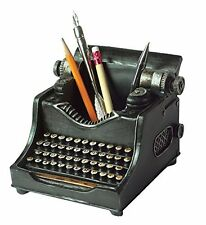 Typewriter Pen Holder Pencil Cup Writing Utensils Desktop Office Vintage Decor