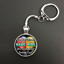 Personalised Congratulations On Passing Your Driving Test On Snake Keyring N616