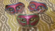 LOT OF 3!! Venetian Glittered Masquarade Mask BRAND NEW!!!